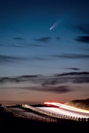 Passage furtif de la comète Neowise